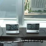 実際の住宅での温度比較です。