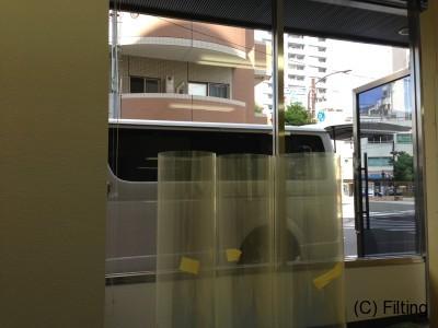 防犯フィルムの【SH15CLAR-A】施工前