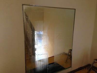 鏡にも飛散防止フィルム施工