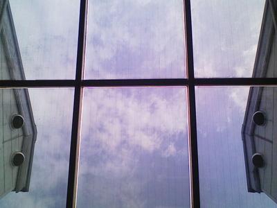 室内からの見え方です